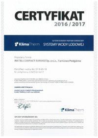 Certyfikat KlimaTherm