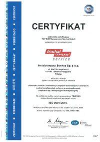 Certyfikat Instalcompact-service